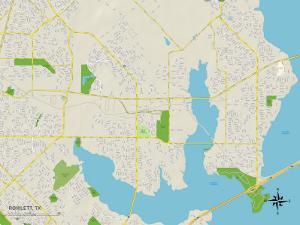 Political Map of Rowlett, TX