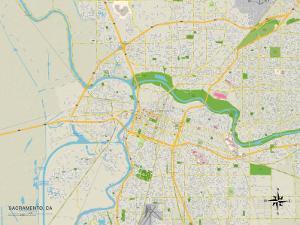 Political Map of Sacramento, CA