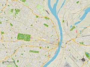 Political Map of Saint Louis, MO