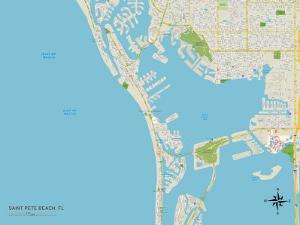 Political Map of Saint Pete Beach, FL