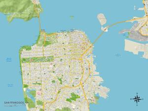 Political Map of San Francisco, CA