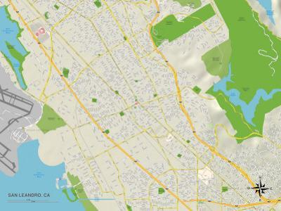 Political Map of San Leandro, CA
