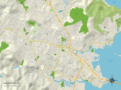 Political Map of San Rafael, CA