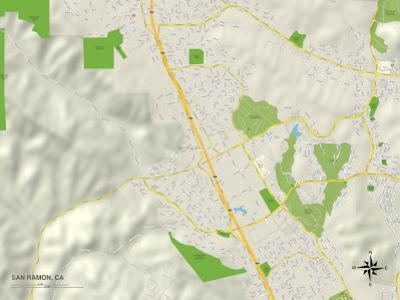 Political Map of San Ramon, CA
