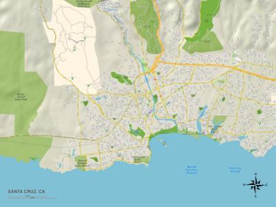 Political Map of Santa Cruz, CA