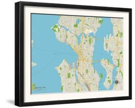 Seattle Political Map.Affordable Maps Of Seattle Wa Posters For Sale At Allposters Com
