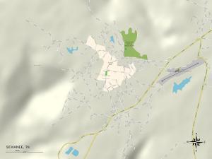 Political Map of Sewanee, TN