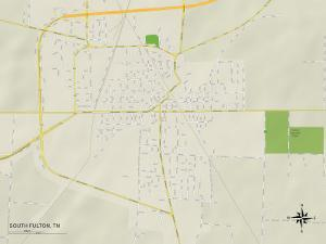 Political Map of South Fulton, TN