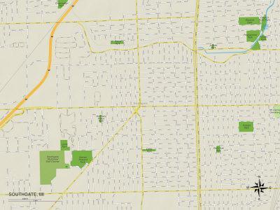https://imgc.allpostersimages.com/img/posters/political-map-of-southgate-mi_u-L-PYAWD40.jpg?p=0