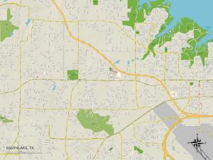 Political Map of Southlake, TX