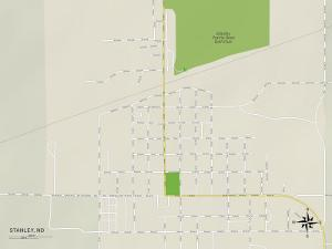 Political Map of Stanley, ND