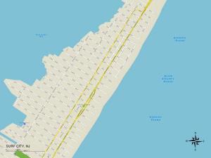 Political Map of Surf City, NJ