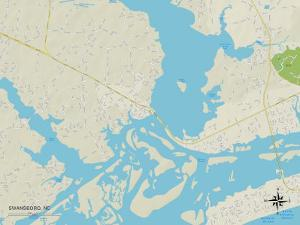 Political Map of Swansboro, NC