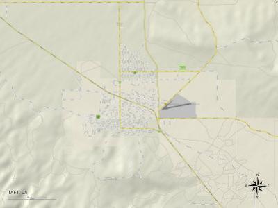 Political Map of Taft, CA