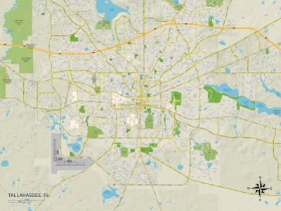 Tallahassee Florida Map.Affordable Maps Of Tallahassee Fl Posters For Sale At Allposters Com