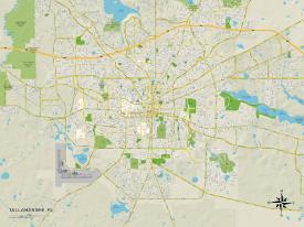Affordable Maps of Tallahassee, FL Posters for sale at AllPosters.com