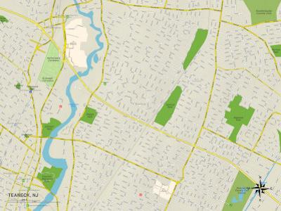 Political Map of Teaneck, NJ