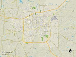 Political Map of Texarkana, TX