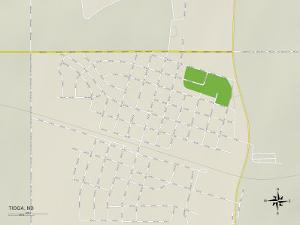 Political Map of Tioga, ND