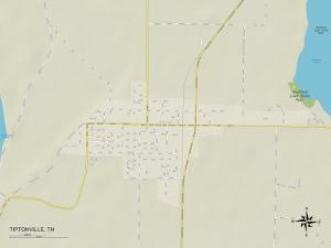 Political Map of Tiptonville, TN