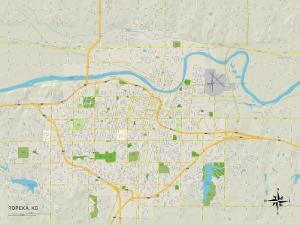 Political Map of Topeka, KS
