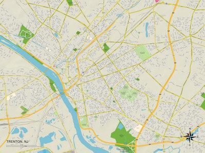 Maps of Trenton NJ Posters for sale at AllPosterscom