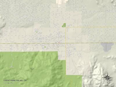 Political Map of Twentynine Palms, CA