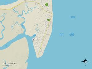 Political Map of Tybee Island, GA