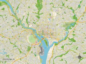 Political Map of Washington, DC