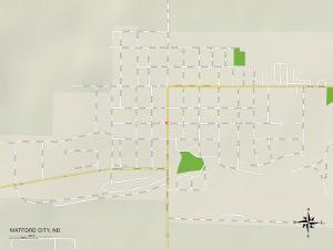 Political Map of Watford City, ND