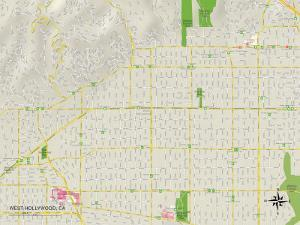 Political Map of West Hollywood, CA