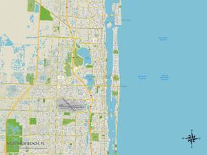 Political Map of West Palm Beach, FL