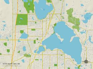Political Map of White Bear Lake, MN