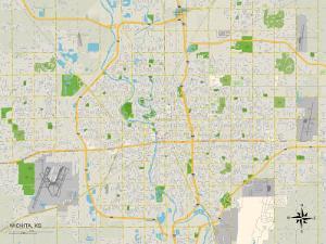 Political Map of Wichita, KS