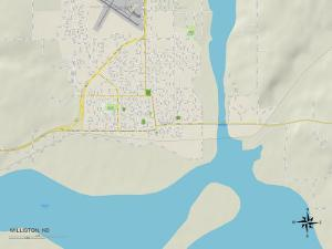 Political Map of Williston, ND