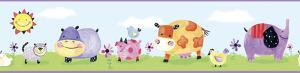 Polka Dot Piggy Peel & Stick Border Wall Decal