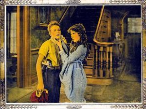 POLLYANNA, l-r: Howard Ralston, Mary Pickford on lobbycard, 1920.