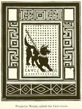 Pompeian Mosaic, Called the Cave Canem