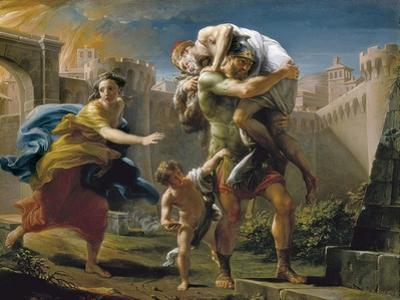 Aeneas and His Family Fleeing Troy by Pompeo Batoni