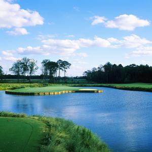 Pond in a Golf Course, Carolina Golf and Country Club, Charlotte, North Carolina, USA