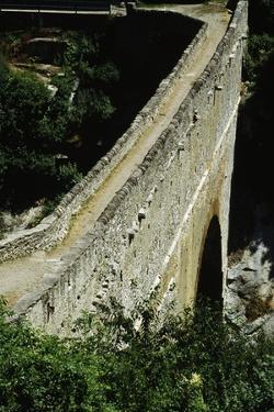Pondel Bridge, Roman Aqueduct, Aymavilles, Valle D' Aosta, Italy BC