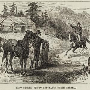 Pony Express, Rocky Mountains, North America