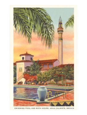 Pool and Minaret, Agua Caliente, Tijuana, Mexico
