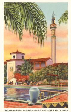 Pool and Minaret, Agua Caliente, Tijuana, Mexico