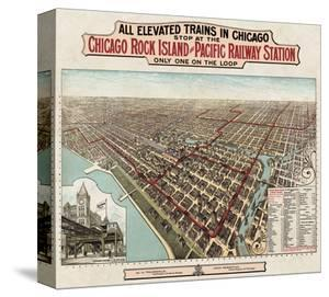 Elevated Trains in Chicago, c. 1897 by Poole Bros^