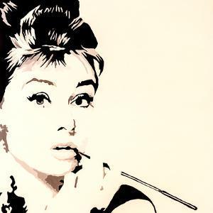 Just Smokin Audrey Hepburn by Pop Art Queen