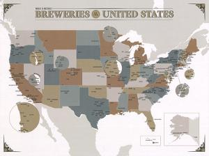 Noble & Notable Breweries of the United States by Pop Chart Lab