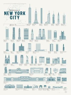 Splendid Structures of New York City by Pop Chart Lab