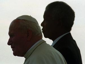 Pope John Paul II and South African President Nelson Mandela