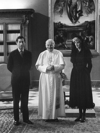 Pope John Paul II Meets with Prince Charles and Princess Diana in the Vatican